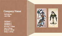Art Gallery Business Card Template